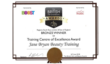 British Hair & Beauty Bronze Award 2019